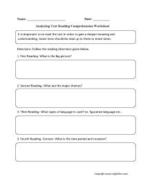 - Englishlinx.com Reading Comprehension Worksheets