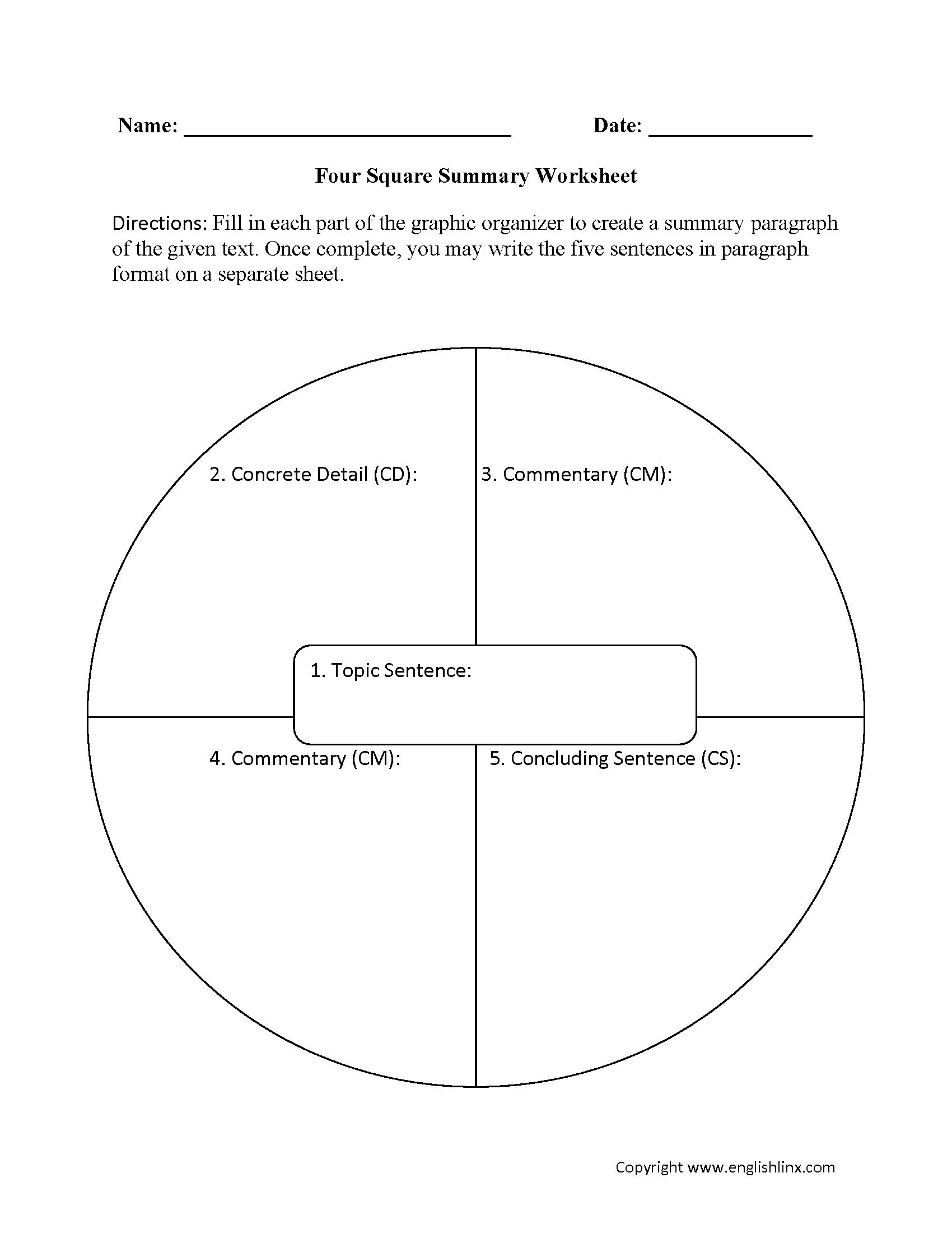 Englishlinx Com Summary Worksheets