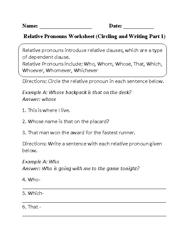 Relative Clause Worksheet Year 6 Inspiracao Kids Activities