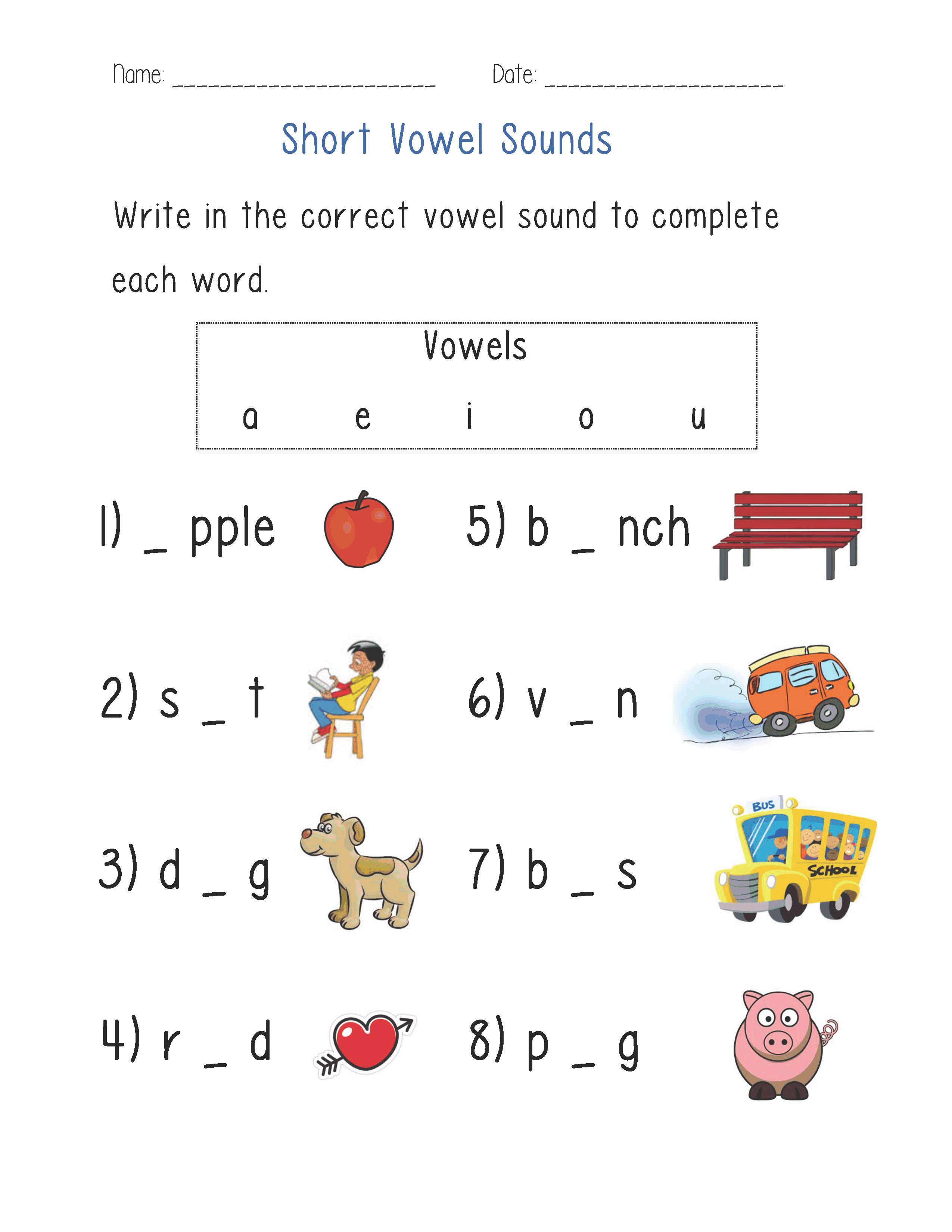 Englishlinx.com | Vowels Worksheets